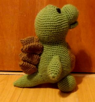 Dinosaur Knitted and Stuffed by Hope, 2016