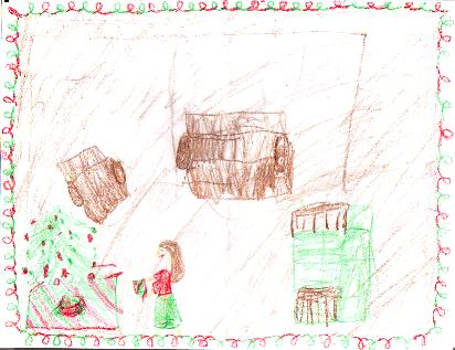 'Our living room at Christmas' by Irene, age 9